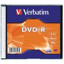 DVD-R lemez, AZO, 4,7GB, 16x, vékony tok
