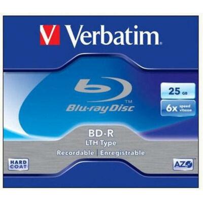 BD-R BluRay lemez, nyomtatható, 25GB, 6x, normál tok, VERBATIM