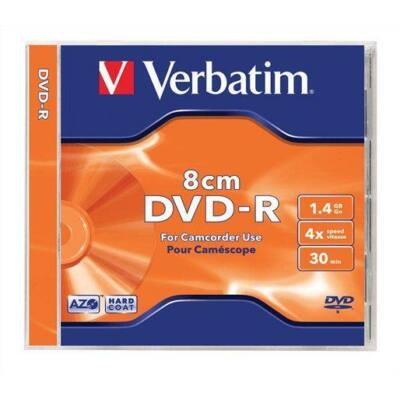 Verbatim DVD-R mini lemez, 8 cm, 1, 4GB, 4x, normál tok