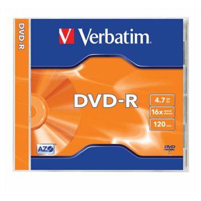 DVD-R lemez, AZO, 4,7GB, 16x, normál tok