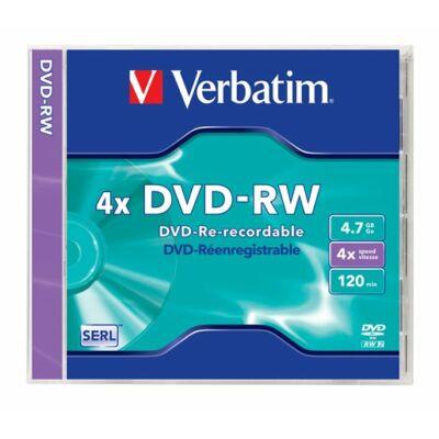 DVD-RW lemez, újraírható, 4,7GB, 4x, normál tok
