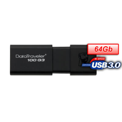 KINGSTON PENDRIVE 64GB, DT100G3 USB 3.0