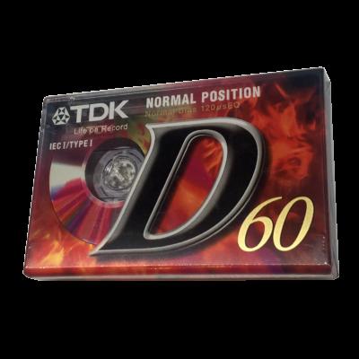 TDK D 60 audió - magnó kazetta